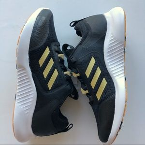 RARE Adidas Women's EDGEBounce 1.5 Black and Gold